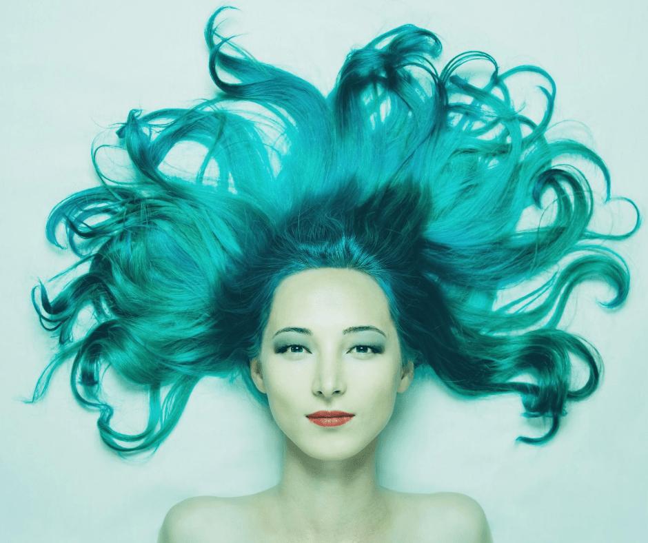 cheveux verts piscine