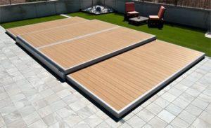 terrasse amovible piscine fermée