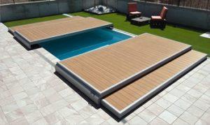 terrasse amovible piscine ouverte